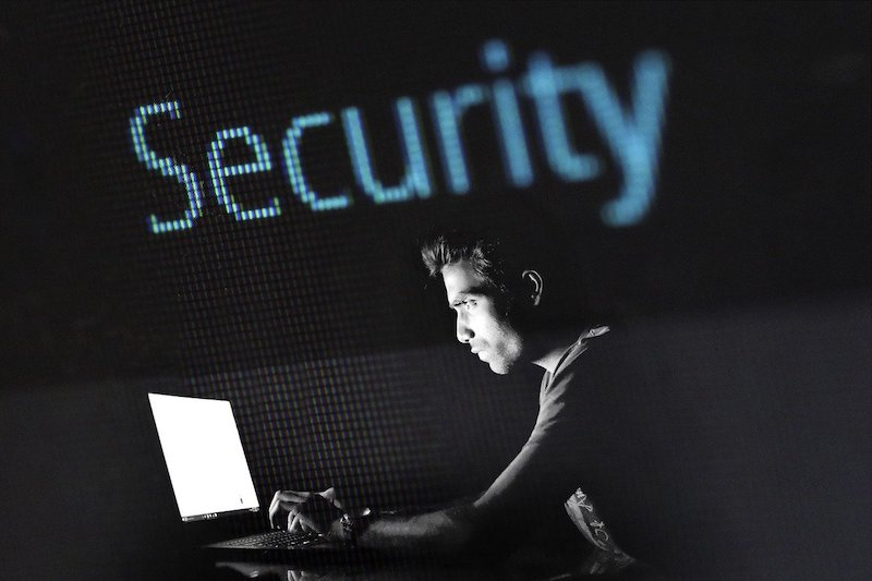Internet Security Young Man Surfing Web