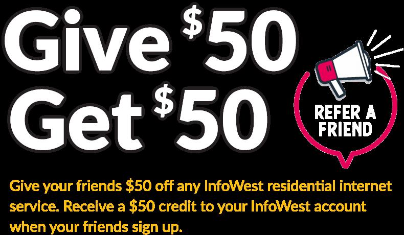 Give $50 Get $50 Referral Reward