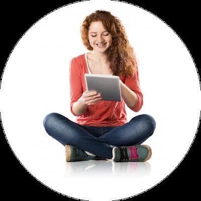 Teenage Girl on Device